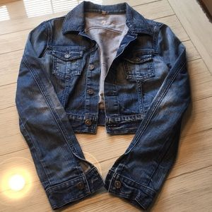 7 For All Mankind Cropped Leather Jacket
